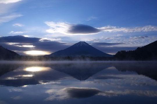 Danau Shoji dan Gunung Fuji