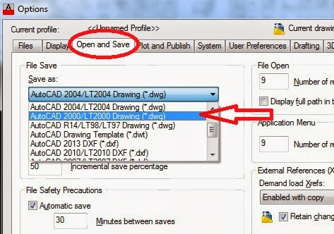 Autocad how to open saved copy