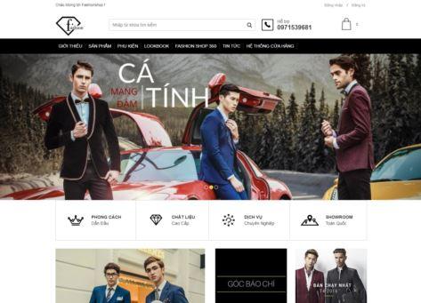 Giao diện blogspot bán hàng thời trang