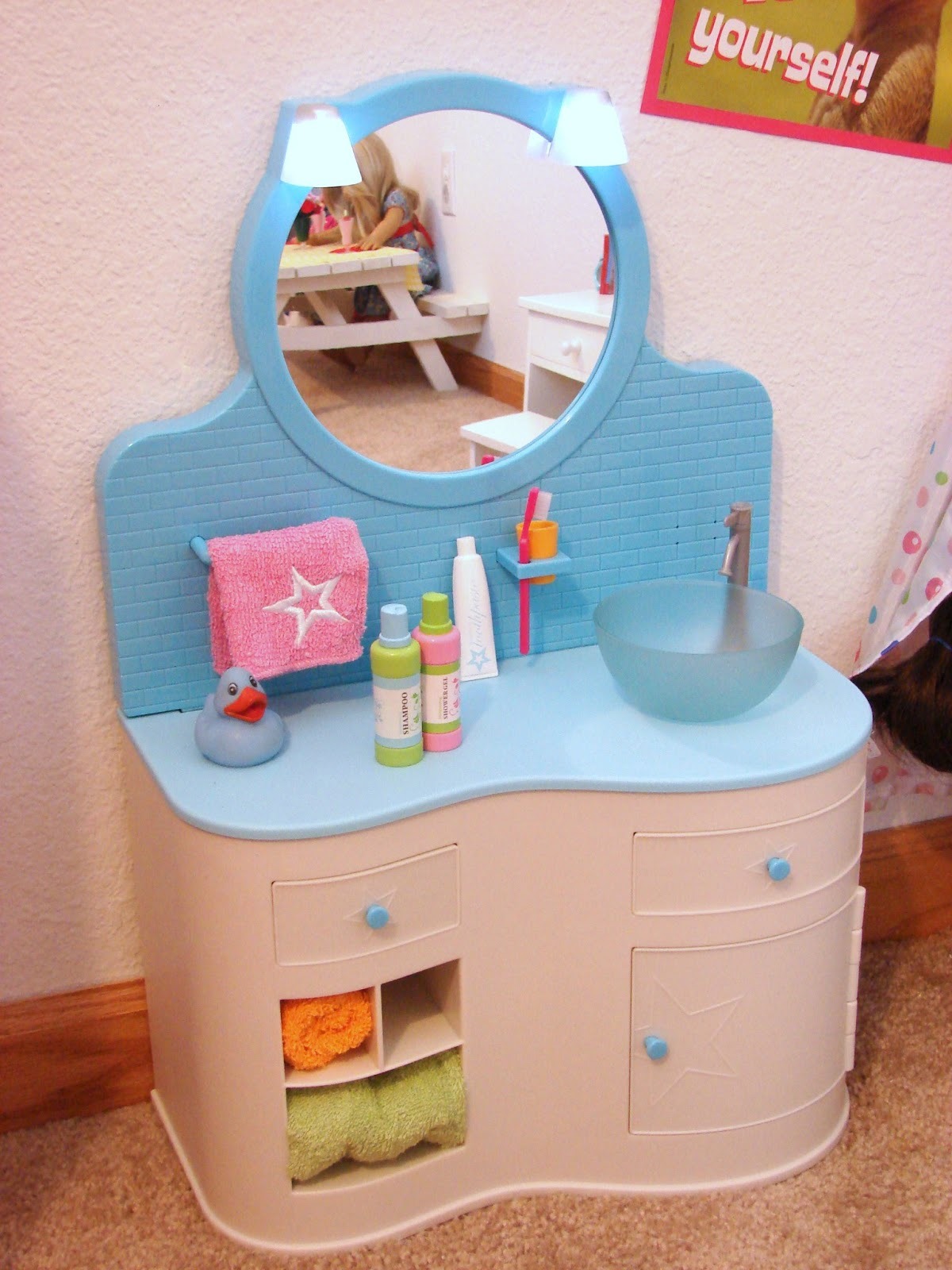 American Girl Doll Play: Our Doll Play Area