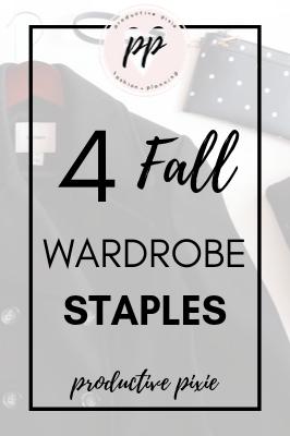 4 Fall Wardrobe Staples