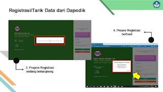 Proses registrari tarik data dari dapodik