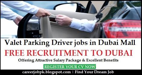 Valet Parking Driver jobs in Dubai Mall