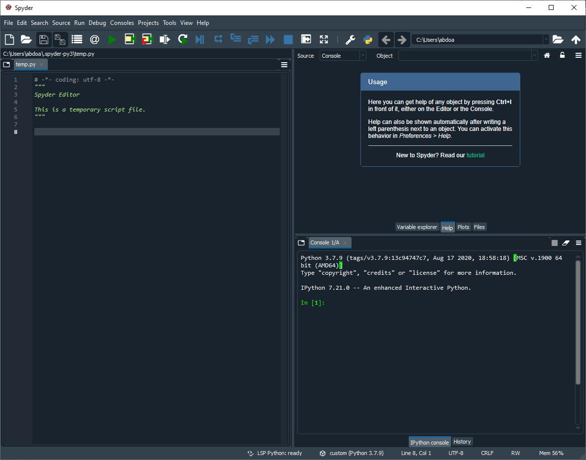 Spyder Python 4.2.4