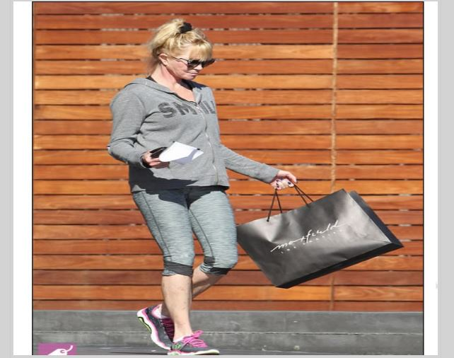 Melanie Griffith camino al Gym