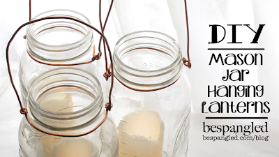 DIY Mason Jar Hanging Lanterns