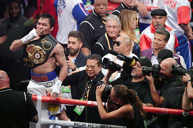 Petinju Manny Pasquiao Berhasil Rebut Sabuk Juara Keith Thurman