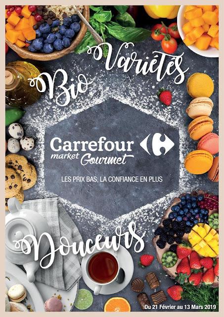 catalogue carrefour market gourmet fevrier mars 2019