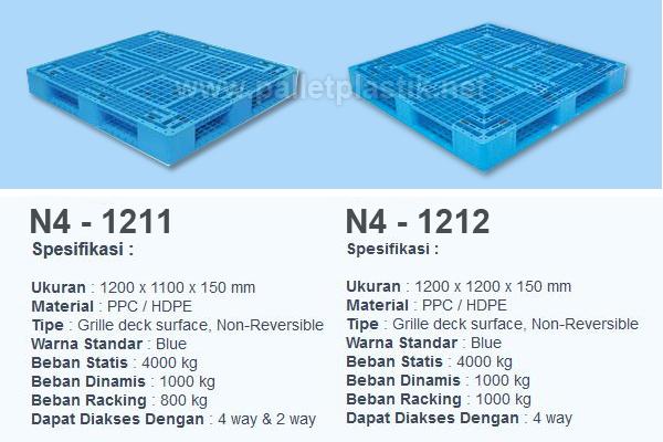 pallet plastik medium duty n4-1211 dan N4-1212