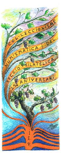 Esguard de Dona - Punt de Llibre Exposició Filatèlica 25è Aniversari Secció Filatèlica, Numismàtica i de Col·leccionisme de l'IEP