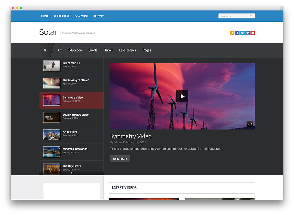 Best WordPress Video Themes For Self-hosted and Embedded Videos 2016 ...