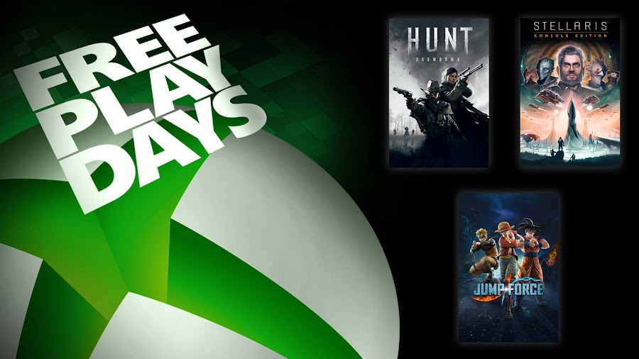 hunt showdown jump force stellaris xbox live gold free play days event