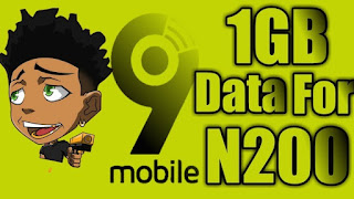 9mobile Special Data 1GB for N200