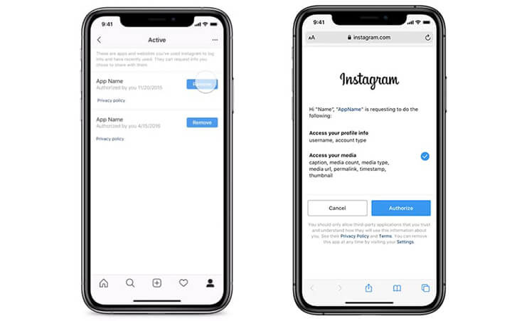 instagram-control-shared-data