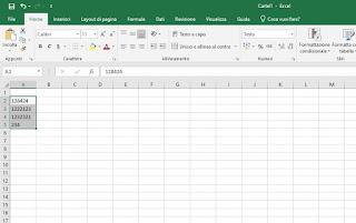 Testo Excel