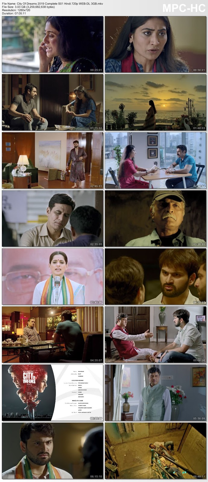 Screen Shoot of City Of Dreams 2019 Complete S01 Hindi 720p WEB-DL 3GB