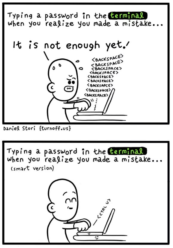 password in the terminal