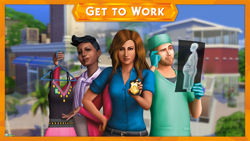 Sims 4 Get to Work Download Poster