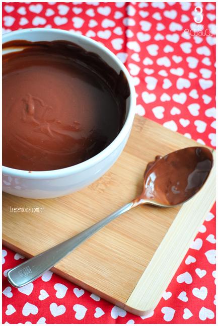 receita de ganache de chocolate