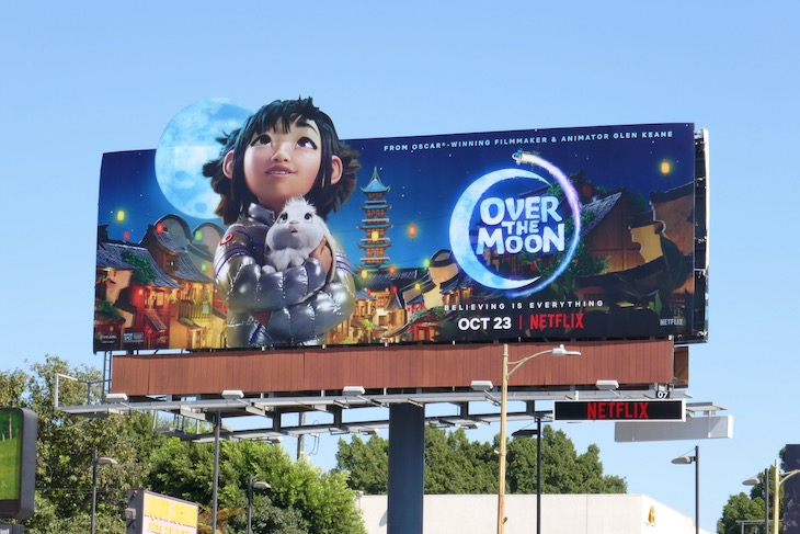 Over the Moon movie billboard