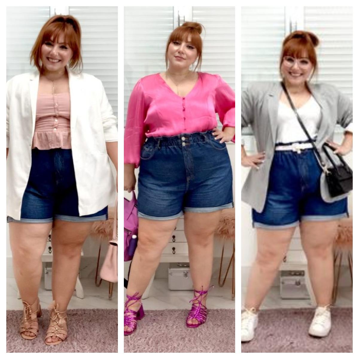 Short Tiro Alto De Jeans Para Gordita Estiliza La Figura