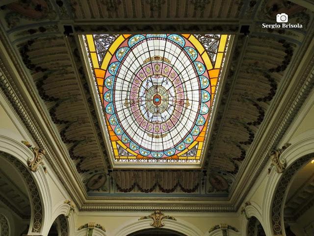 Palacete Basílio Jafet (Vitrais da claraboia - perspectiva)