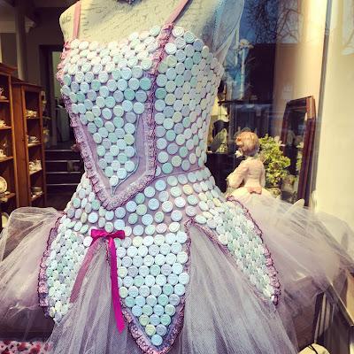 Lovehearts on a dress