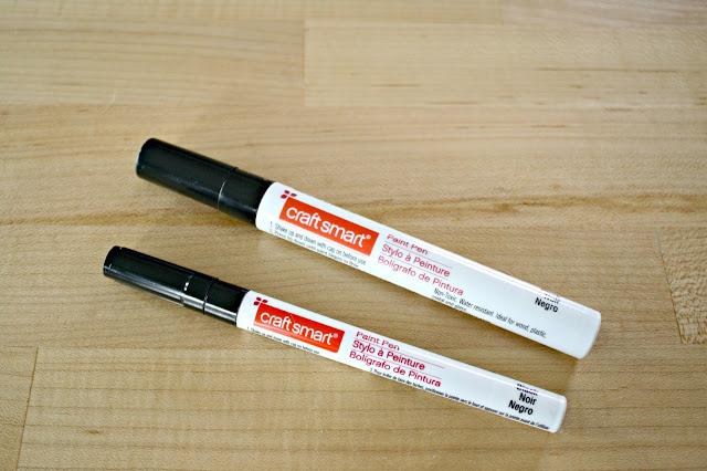 black paint pens
