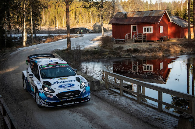 Scenic shot of Ford M-Sport World Rally Drivers