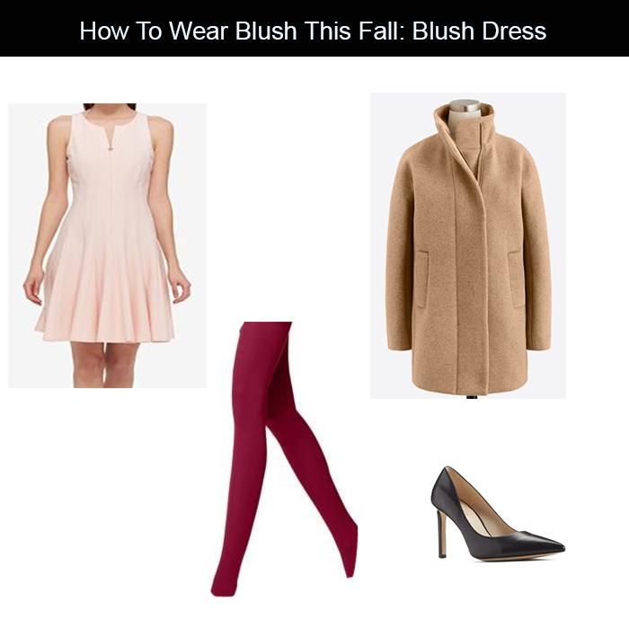 blush dress for fall