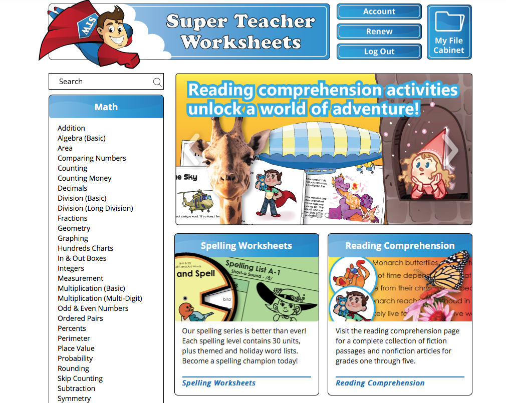 Be Thou Exalted: Super Teacher Worksheets {Review}