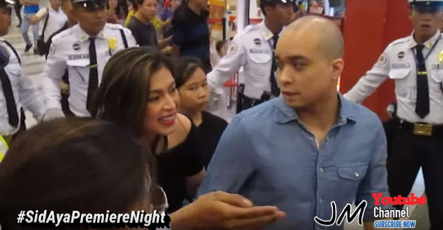 "Watch How A Group Of Security Guards Protected Angel Locsin At The Premiere Night Of ""Sid and Aya"""