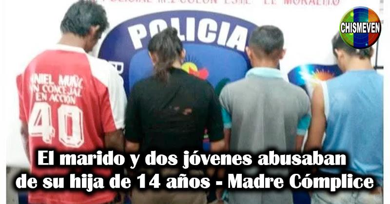 El marido y dos jóvenes abusaban de su hija de 14 años - Madre Cómplice