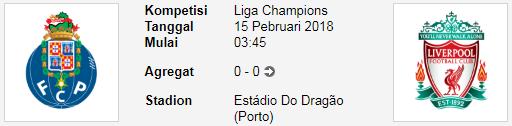 Sebuah Pertandingan lagi dari Laga sengit PREDIKSI CHAMPIONS LEAGUE FC Porto Vs Liverpool