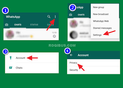 cara menyembunyikan status online whatsapp