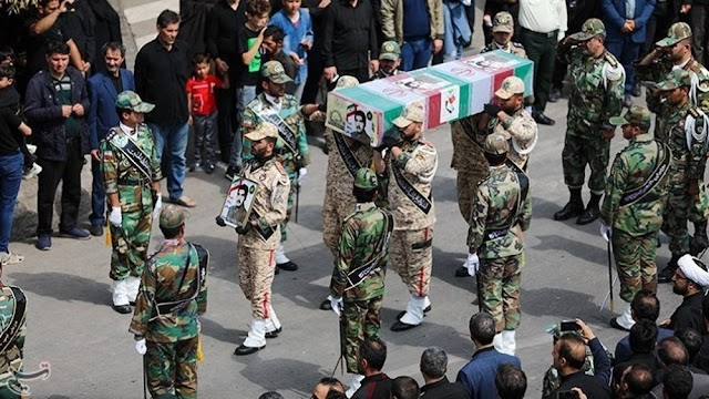 Iran holds funeral procession for 19 victims of naval exercise incident involving the Navy's Konarak logistical and support vessel