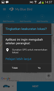 Cara Memesan Taxi Blue Bird Non-tunai di Medan