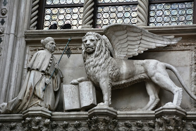Palazzo Ducale Venice winged lion
