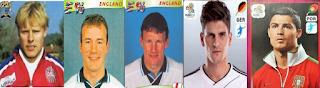 Henrik Larsen, Alan Shearer, Teddy Sheringham, Mario Gomez, Cristiano Ronaldo