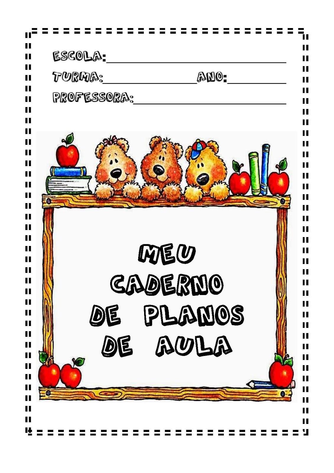 Capa Para Caderno De Planejamento So Escola