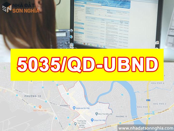 Quyết định số 5035/QĐ-UBND quy hoạch khu dân cư phường 5 quận Gò Vấp