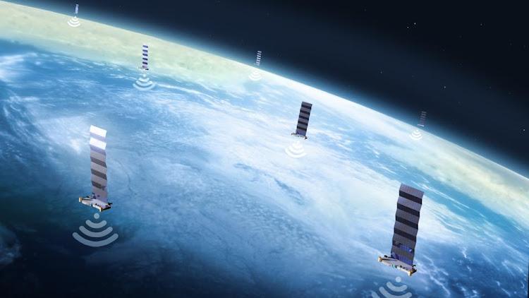 Спутники Starlink на орбите