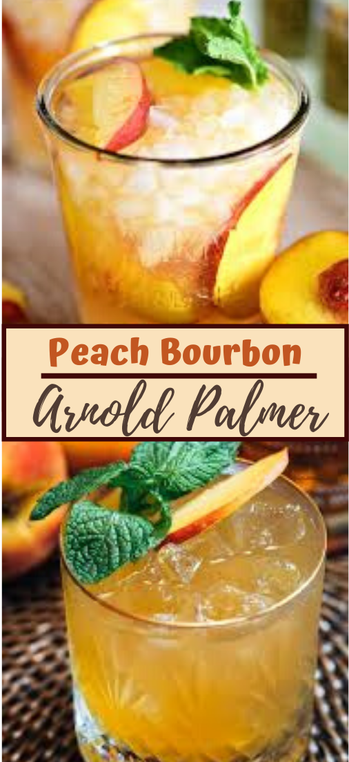 Peach Bourbon Arnold Palmer  #healthydrink #easyrecipe #cocktail #smoothie