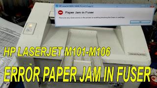 HP Laserjet Pro M102a Paperjame in Fuser