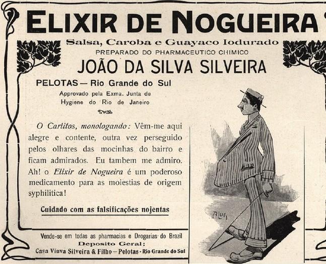Propaganda antiga do Elixir de Nogueira veiculada em 1910