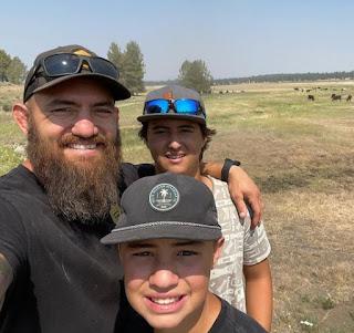 Kaleo Browne clicking selfie with her dad & sibling