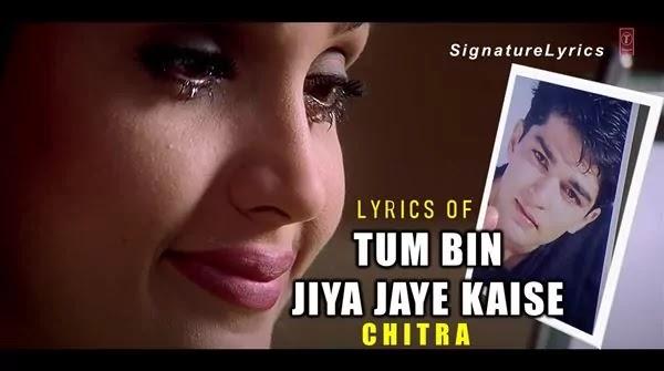 Tum Bin Jiya Jaye Kaise Lyrics (Hindi / English) - TUM BIN - CHITRA