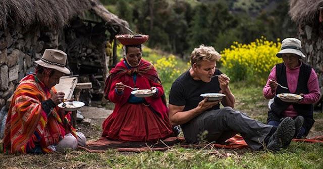 VÍDEOS: El chef Gordon Ramsay en el Valle Sagrado de los Incas