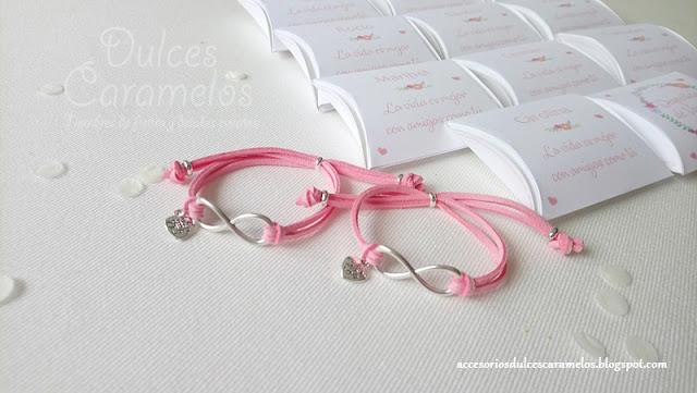 Despedida de soltera pulseras rosa clarito