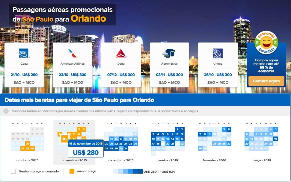 Como achar passagens aéreas promocionais e super baratas para Orlando e  Miami 0ed34b2a5b